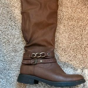 Shoes - JustFab brown below the knee rider boots